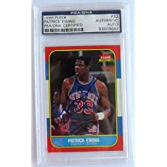Patrick Ewing New York Knicks Signed 1986 Fleer #32 ROOKIE Card PSA DNA - NBA... by Sports Memorabilia