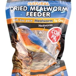Cheap Dried Meal Worm Feeder with 2 oz Dried Meal Worms, 3.9 oz (RF001)