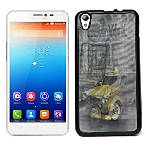 ECellStreet 3d Soft Back Case Cover Back Cover for Lenovo S850 S 850 - Taxi