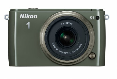 Nikon 1 S1 10.1 Mp Hd Digital Camera With 11-27.5Mm Vr 1 Nikkor Lens (Khaki)