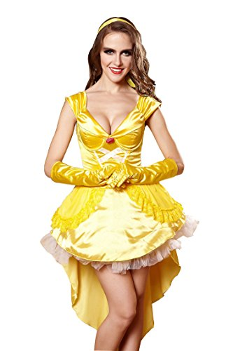 F&C Halloween Costume Adult Golden Queen Women's Cosplay Costumes