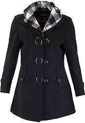 Panache Women's Slim Fit Coat (M006 _ Medium, Black)