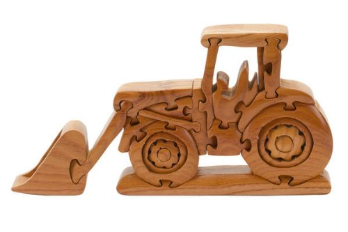 Brain Teasers Wood 3D Puzzle, Tractor