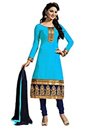 Nilkanth Enterprise Sky Blue Dress Material
