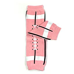 Bowbear Adorable Designs Baby Leg Warmers, Pink Football