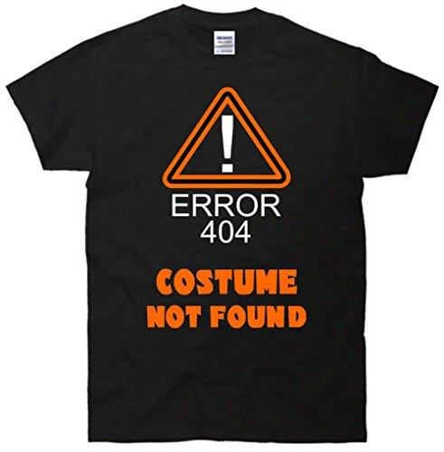 [Halloween Error 404! Costume Not Found T-Shirt Black 5XL] (Costume Not Found 404)