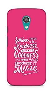 AMEZ where there is kindness there is goodness Back Cover For Motorola Moto G2