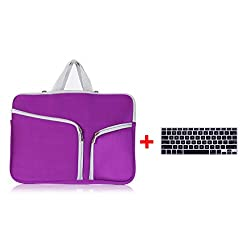 Laptop Sleeve,Go Crazzy Zipper Briefcase Soft Neoprene Handbag Sleeve Bag Cover Case for MACBOOK AIR 13.3 inch With Free Keyboard Protector