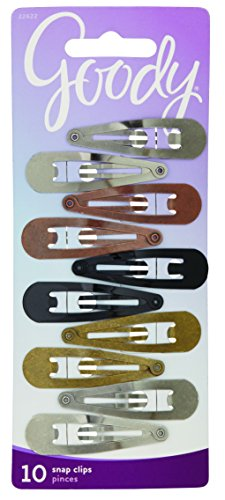 Goody Classics Contour Hair Clip 10, 0.343 Ounce, Colors May Vary (Pack of 3) (Hair Clips For Dryer compare prices)