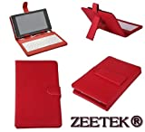 ZEETEK® **HIGH QUALITY LENOVO IDEATAB A3000 TABLET LEATHER KEYBOARD CASE RED**