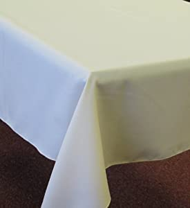 "Large Plain White Rectangular Polyester Fabric Tablecloth 150 x 250cm 59""x98"""