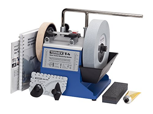 Water Cooled Tool Sharpening System Tormek T4 with an 8-Inch Stone. A Tormek Sharpening System That's also a Great Value. (Bench Grinder Leather Wheel compare prices)