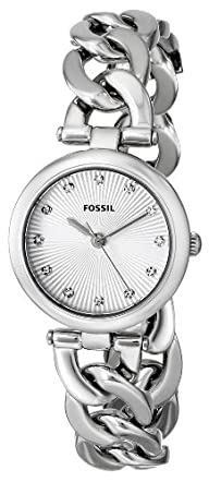 Fossil Women's ES3390 Olive Analog Display Analog Quartz Silver Watch