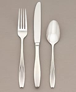Gorham Tulip Frosted Stainless Flatware 3-Piece Hostess Set