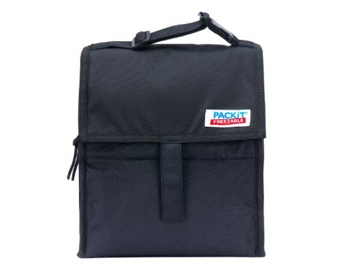 Packit Freezable Lunch Bag With Zip Closure, Black Color: Black Toy, Kids, Play, Children front-704163