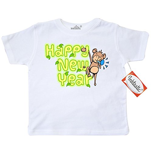 Inktastic Little Boys' Happy New Year Toddler T-Shirt 3T White