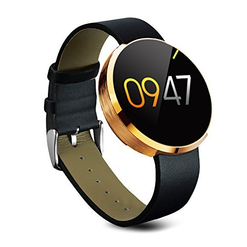 Luxsure DM360 Waterproof Bluetooth Smart Watch Heart Rate Monitor Smartwatch Finger Gestures Voice Control Wirst Watch for IOS Apple iPhone and Android Smartphone (Gold)