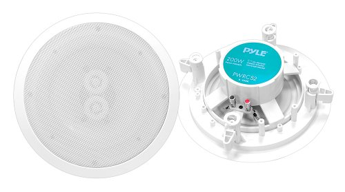 Pyle Home Pwrc52 5.25-Inch In-Ceiling Dual-Channel/Voice Coil Weather Proof Single Speaker
