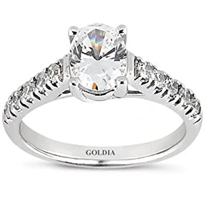 2.20 Ct.Oval Diamond Engagement Ring with Side Stones