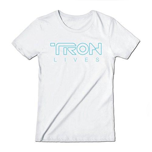 Tron Lives - Teepublic Female Large T-Shirt