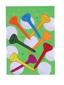 Golf Balls Tees House Applique Flag