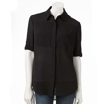 apt 9 solid crepe blouse women 39 s at amazon women s