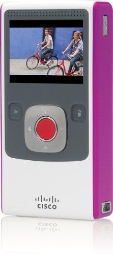 Flip Video Ultra HD Pocket Camcorder 4GB - White/Magenta