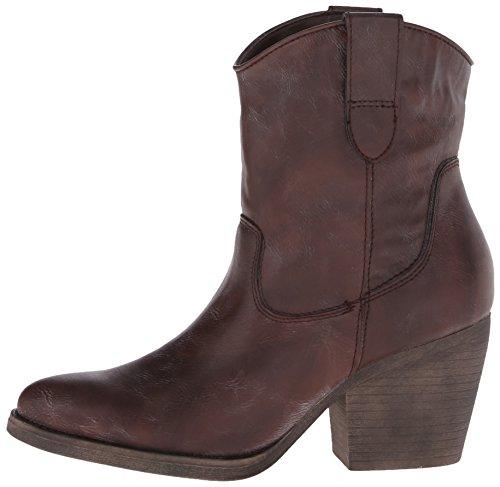 Madden Girl Women's Ramz Western Boot, Dark Brown, 7 M US