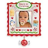 Baby's First Christmas Photo Holder 2010 Hallmark Ornament