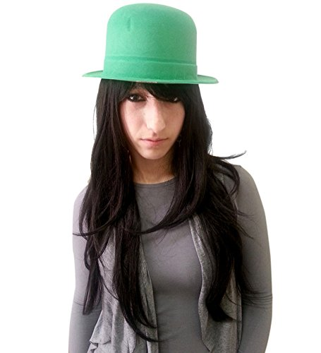 Verde Velour Derby Hat - Classico Velluto Derby Hat in modo inaspettato Mint Green