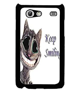 ColourCraft Funny Cat Design Back Case Cover for SAMSUNG GALAXY S ADVANCE I9070