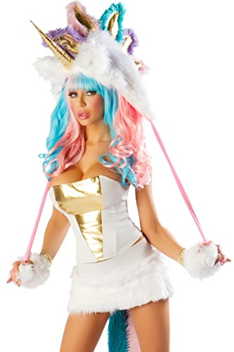 J. Valentine Women's Sexy Unicorn Costume 7 Piece Complete Set Sexiest Halloween