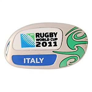 Official Italy Italian Azzurri Rugby Union World Cup 2011 Pin Badge rrp£8 by Brandco