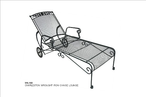 DC America Charleston Wrought Iron Chaise Lounge WIL160