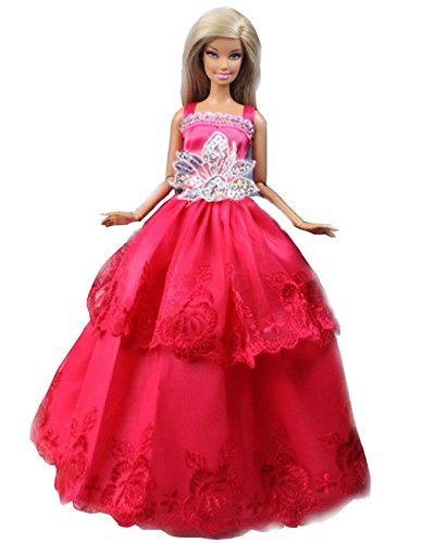 Blackcell Mix Style Handmade Gorgeous Barbie Doll Party Clothes Dress x5