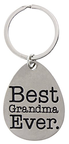 Mothers Day Gifts for Grandma Best Grandma Ever Metal Pendant Keychain Key Tag