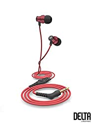 Brainwavz Delta Red IEM Earphones With Remote & Mic For Apple iPhone, iPad, iPod & Other Apple iOS Devices