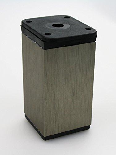 Mbelfuss-Tischbein-aus-Aluminium-Ausfhrung-Edelstahl-40mmx-40mm-diverse-Hhen-80mm