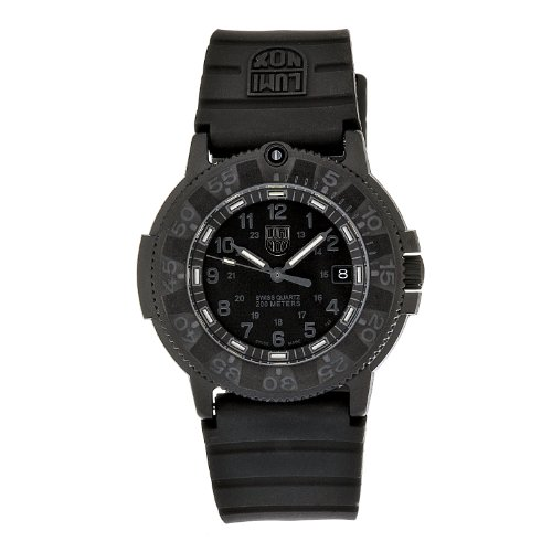 Luminox Men's Navy Seal 3001.BO Black Polyurethane Analog Quartz Watch with Black Dial