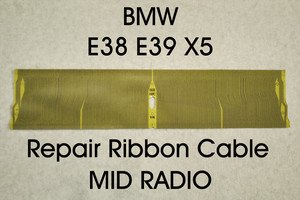 Bmw X5 Mid Radio Lcd Multi Information Display Faded Pixel Repair Ribbon Replacement (Ribbon Cable Only)
