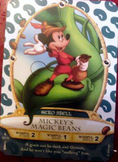 Sorcerers Mask of the Magic Kingdom Game, Walt Disney World - Card #30 - Mickey's Magic Beans - 1