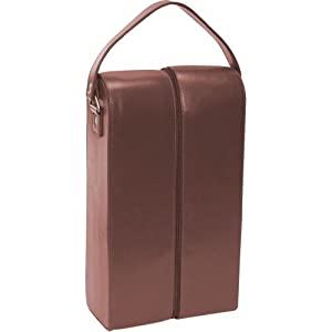 Royce Leather Double Wine Presentation Case - Genuine Leather - Coco
