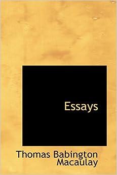 essay thomas macaulay