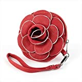Red Flower Faux Leather Bag/Purse AJ23142