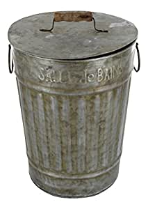 bathroom trash can with lid zinc french vintage design