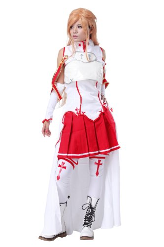 Sword Art Online Sao Asuna Yuuki Cosplay Japanese Anime Girl's Cosplay Costume