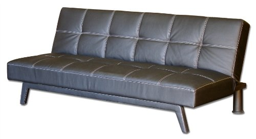 This deals convertible futon sofa with baseball stitching Baseball sofa