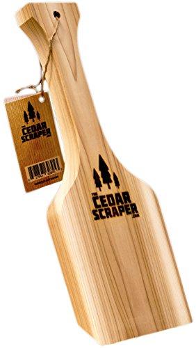 The Cedar Scraper - The Safe All-Natural Bristle Free Cedar Wood BBQ Grill Scraper