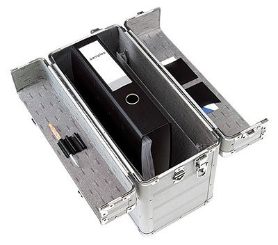 Aluminium Pilotenkoffer Alu-Koffer Aktenkoffer