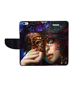 KolorEdge Printed Flip Cover For Apple IPhone 6 Multicolor -(47KeMLogo12349IPhone6)